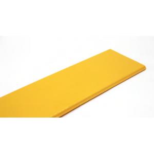 Крышка прямой секция оптического лотка, 2 метра, желтая