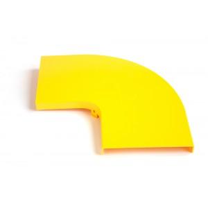 Крышка горизонтального поворота 90° оптического лотка, желтая