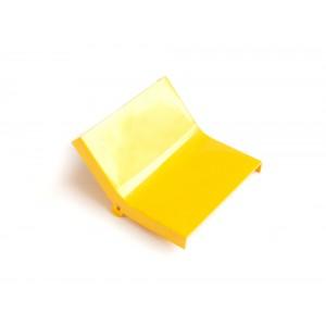 Крышка внутреннего изгиба 45° оптического лотка, желтая
