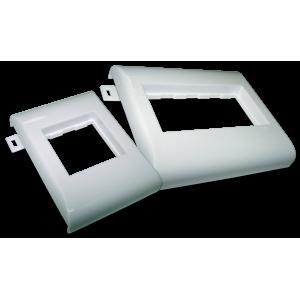 Суппорт пластиковый безвинтовой на защелках, на короб TWT 100мм