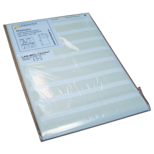 Self-laminating cable labels for laser printers