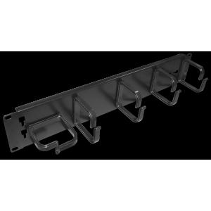 """Кабельный органайзер 19"""" со съемными пластиковыми кольцами, 2U"""