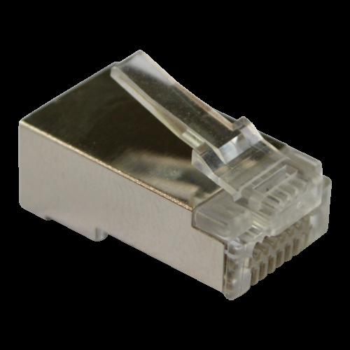Коннектор RJ45 тип EZ, 8P8C, STP, Cat.5e, универсальный, со вставкой, покрытие 50 микрон,100 шт.