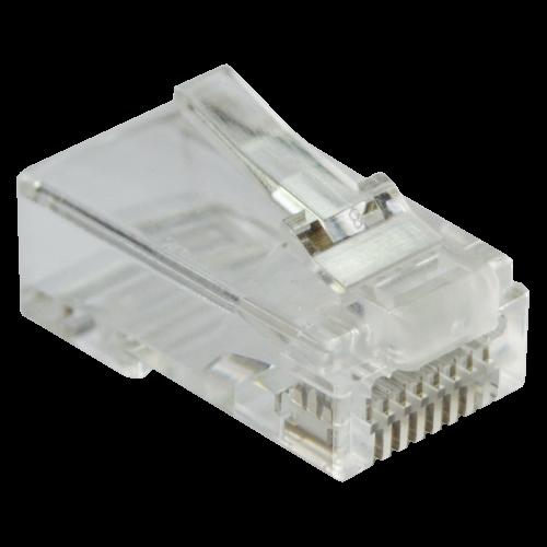 Коннектор RJ45 тип EZ, 8P8C, UTP, Cat.6, универсальный, со вставкой, покрытие 50 микрон,100 шт.