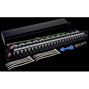 Патч-панель LANMASTER 24 порта, STP, кат.5E, 1U