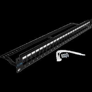 Патч-панель TWT наборная, 24 порта, UTP, 1U