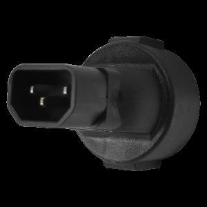 Адаптер переходной, розетка Schuko - вилка C14, 220В, 10А, черный